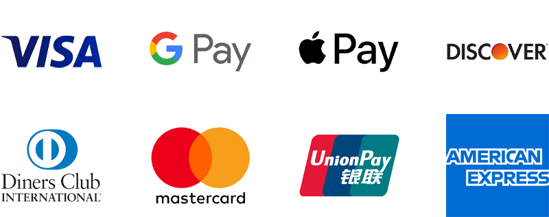 ECL Minicab Services payment options including Visa, Google Pay, Apple Pay, Discover, Diners Club International, Mastercard, Union Pay and American Express